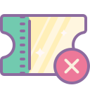 Supprimer ticket icon