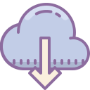 download from-cloud icon