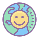 Earth Smiley icon
