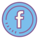 Facebook w okręgu icon