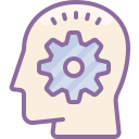 Head Silhouette With Cogwheels icon