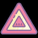 Указатель предупреждения об опасности icon