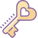Heart Key icon