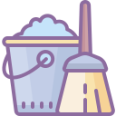Bucket and Broom icon