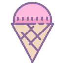 Ice Cream Pink Cone icon
