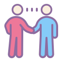 Two Men Making a Handshake icon