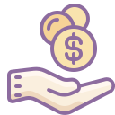 Hand Receiving Money icon
