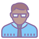 School Director Male Skin Type 6 icon