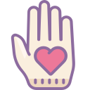 Outline of a Hand icon