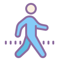 Walking Silhouette icon