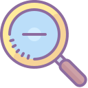 Magnifying Glass With Minus icon
