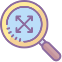 Magnifying Glass With Expand Sign icon