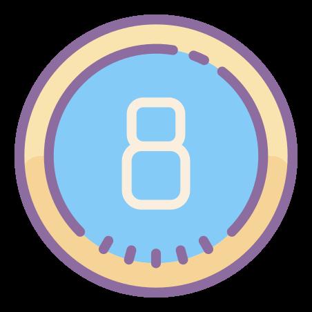 Circled 8 icon