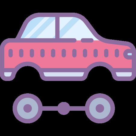Automotive icon in Cute Color