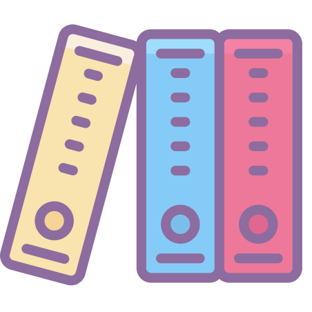 Binder icon in Cute Color