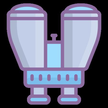 Binoculars icon in Cute Color