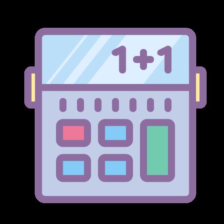 Calculator icon in Cute Color