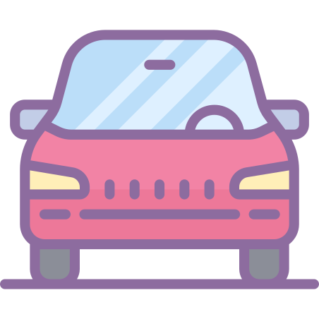 Car icon in Cute Color