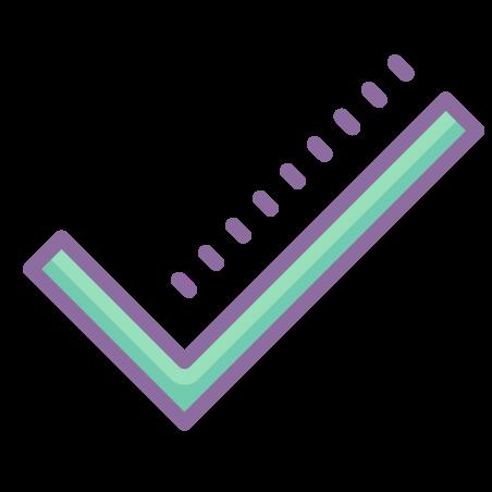 Checkmark icon in Cute Color
