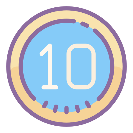 Circled 10 icon
