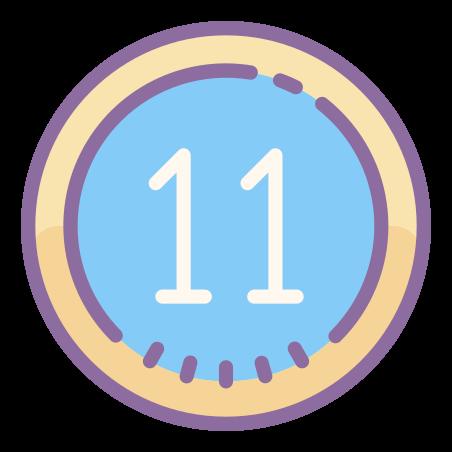 Circled 11 icon