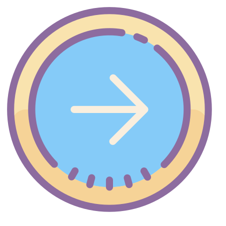 Circled Right icon in Cute Color
