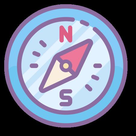 Compass icon in Cute Color