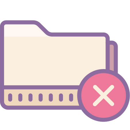 Delete Folder icon in Cute Color