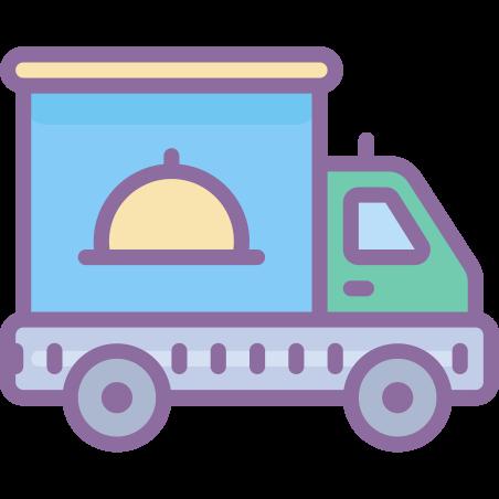 Deliver Food icon in Cute Color