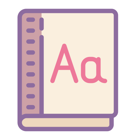 Dictionary icon in Cute Color