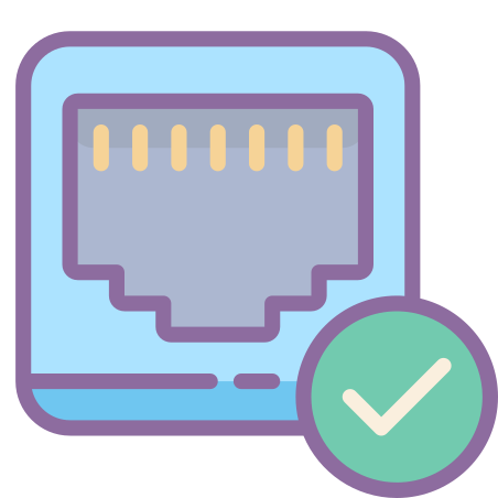 Ethernet On Icon - Free Download, PNG and Vector
