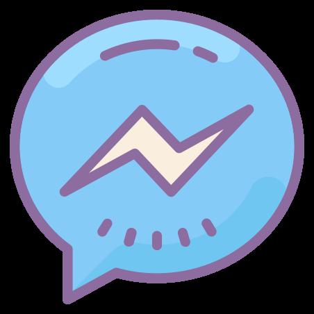 Facebook Messenger icon in Cute Color
