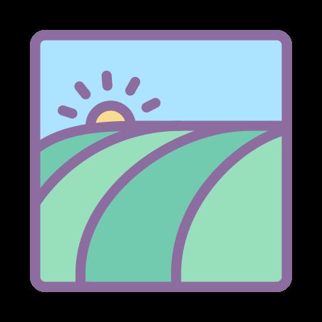 Field icon in Cute Color