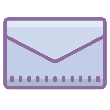 Envelope icon in Cute Color