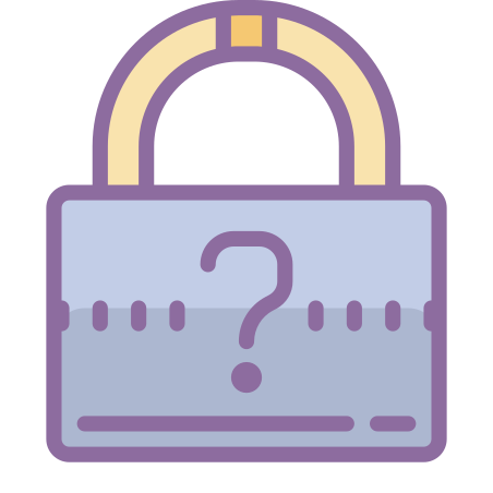 Forgot Password icon in Cute Color