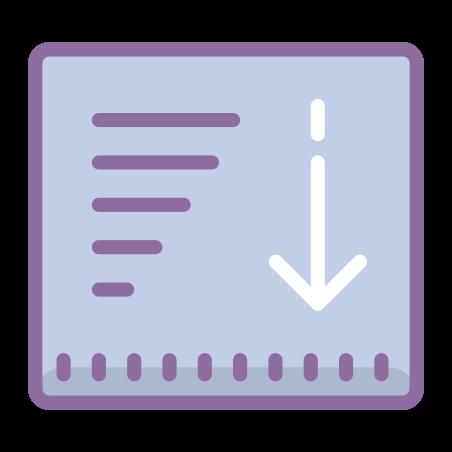 降順のソート icon
