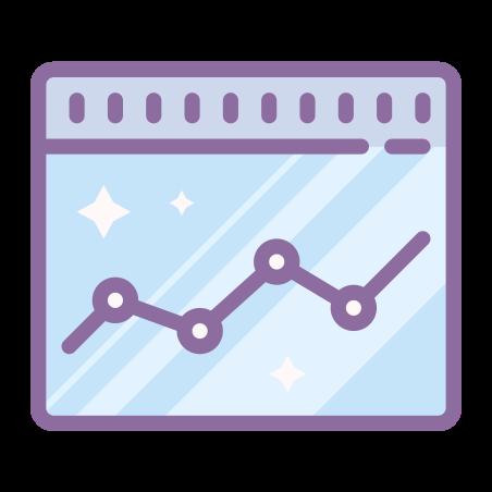 Graph icon in Cute Color