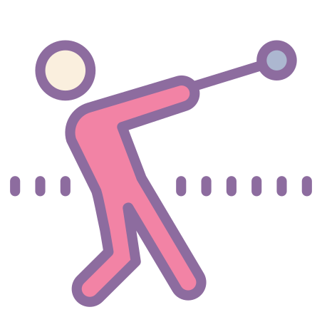 Hammer Throw icon in Cute Color