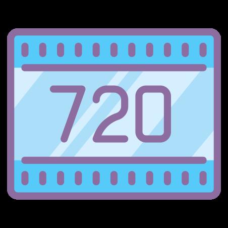 HD 720p icon in Cute Color