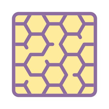 Hexagonal Pattern icon in Cute Color