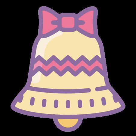 Jingle Bell icon in Cute Color