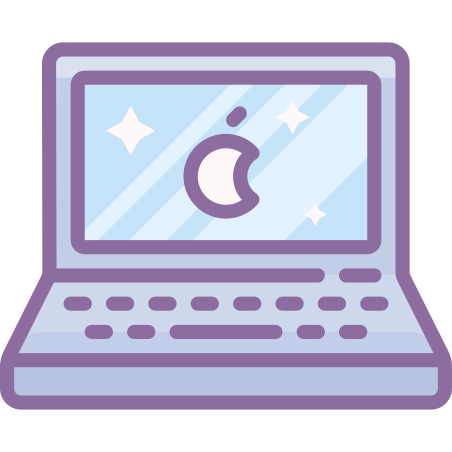 Laptop icon in Cute Color