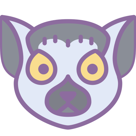 Lemur icon in Cute Color