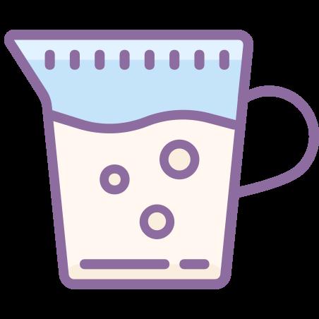 Milk icon in Cute Color