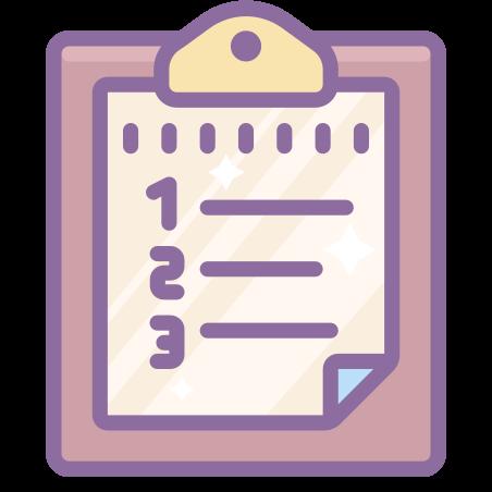 번호가 매겨진 목록 icon