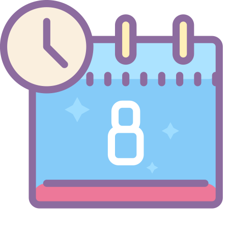 Schedule icon in Cute Color