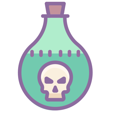 Poison Bottle icon in Cute Color