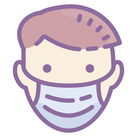 Protection Mask icon in Cute Color