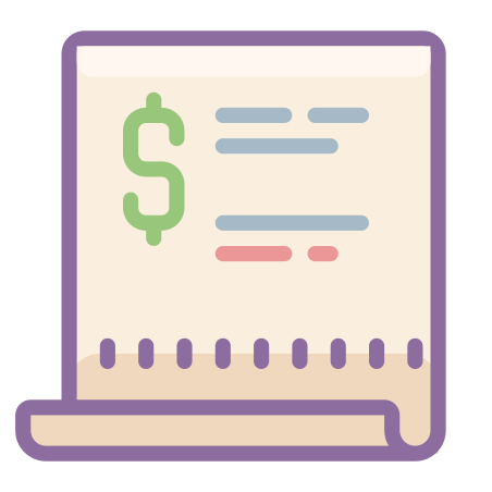 Purchase Order icon in Cute Color