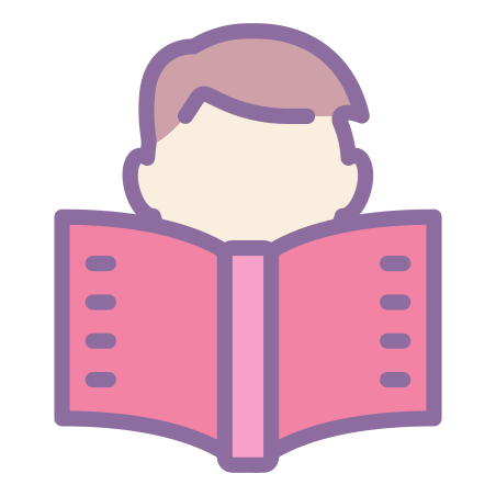 Reading icon in Cute Color